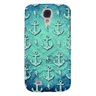 Rockabilly nautical anchor pattern in blue. samsung s4 case
