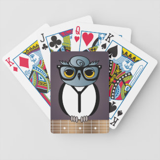 Rockabilly Owl Playing Cards