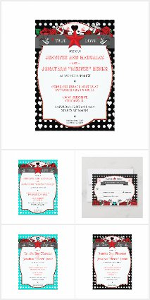 Rockabilly Polka Dot Wedding