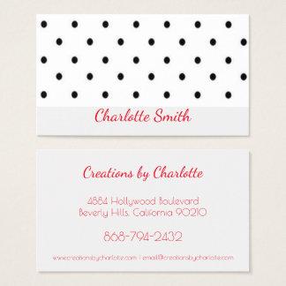Rockabilly Polka Dots Business Card