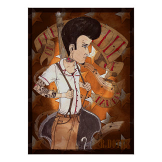 Rockabilly post offices poster