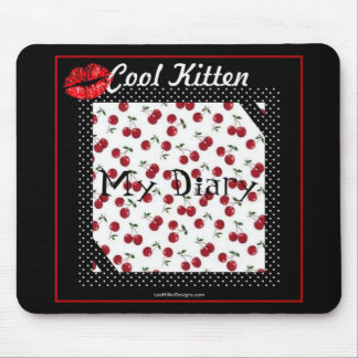 Rockabilly rab Cool Kitten My Diary Gifts Apparel Mouse Pad