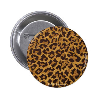 Rockabilly rab Leopard Print Gifts & Collectibles Button