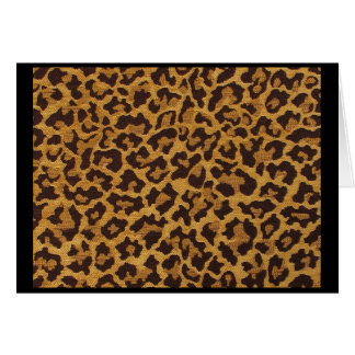 Rockabilly rab Leopard Print Note & Greeting Cards