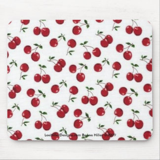 Rockabilly rab Red Cherries Mouse Pad