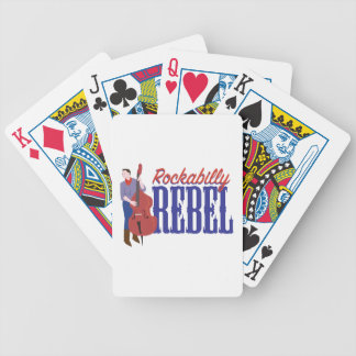 Rockabilly Rebel Bicycle Playing Cards