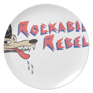 Rockabilly Rebel Dinner Plate
