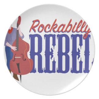 Rockabilly Rebel Melamine Plate