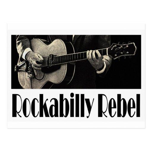 rockabilly rebel postcard zazzle. Black Bedroom Furniture Sets. Home Design Ideas