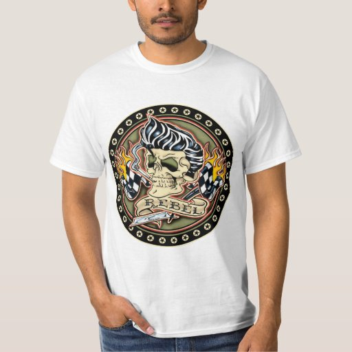 rockabilly rebel shirt zazzle. Black Bedroom Furniture Sets. Home Design Ideas