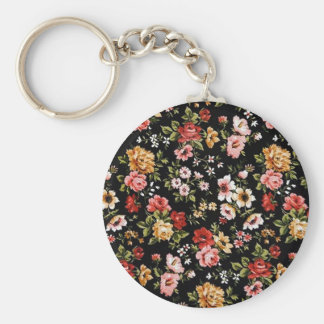Rockabilly retro fifties floral daisies keychain