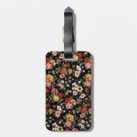 Rockabilly retro fifties floral daisies travel bag tags