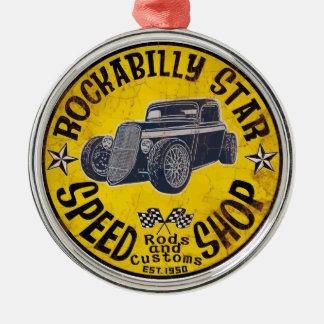 Rockabilly ride metal ornament