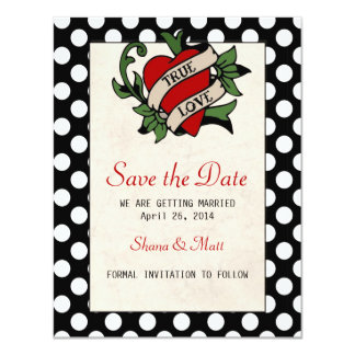 Rockabilly Save the Date Announcement