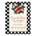 Rockabilly Save the Date 4.25x5.5 Paper Invitation Card