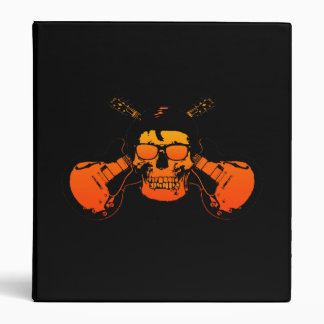 Rockabilly Skull, Avery Binder
