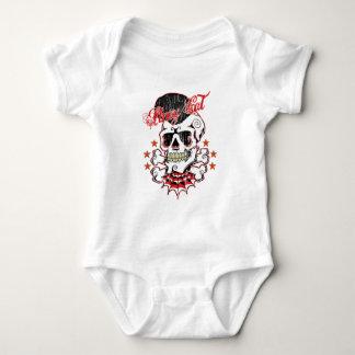 Rockabilly Skull Baby Bodysuit