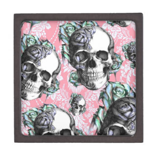 Rockabilly Skulls in Spring. Gift Box