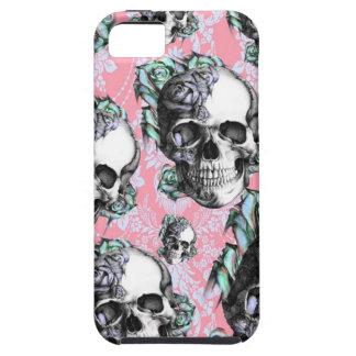 Rockabilly Skulls in Spring. iPhone 5 Case