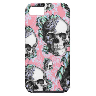 Rockabilly Skulls in Spring. iPhone SE/5/5s Case