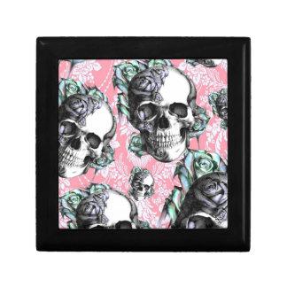 Rockabilly Skulls in Spring. Keepsake Box