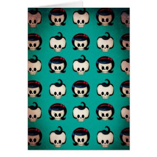 Rockabilly Skulls Pattern Card