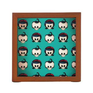 Rockabilly Skulls Pattern Desk Organizers