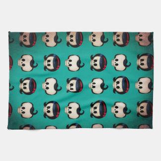 Rockabilly Skulls Pattern Hand Towel