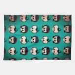 Rockabilly Skulls Pattern Towel