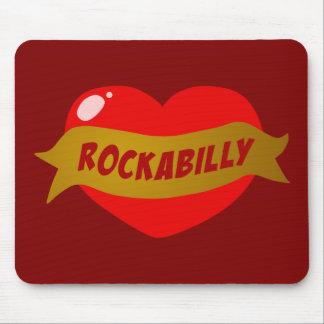 Rockabilly Tattoo Heart Mouse Mats