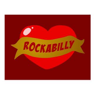 Rockabilly Tattoo Heart Postcard