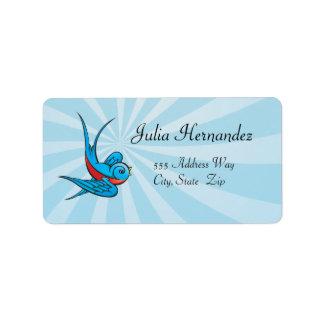 Rockabilly Tattoo Swallow Bird Labels