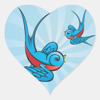 Rockabilly Tattoo Swallow Bird Stickers