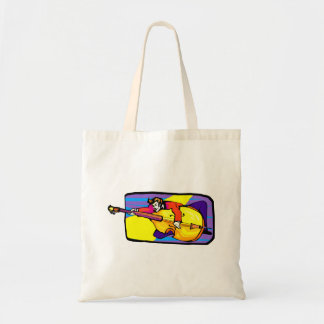 Rockabilly Upright Bass Player Goofing Around Tote Bag
