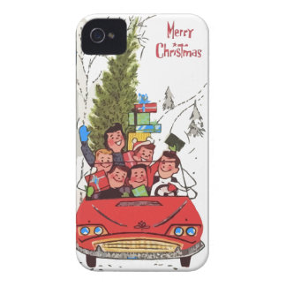 rockabilly vintage Christmas iPhone 4 Cover