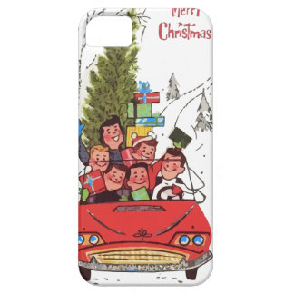 rockabilly vintage Christmas iPhone SE/5/5s Case