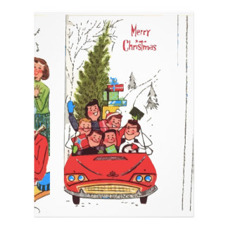 rockabilly vintage Christmas Letterhead