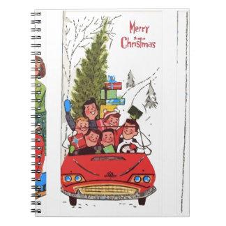 rockabilly vintage Christmas Notebook