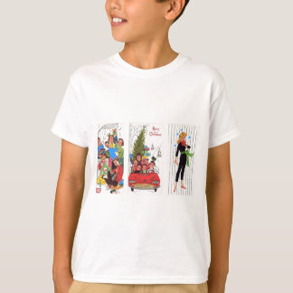 rockabilly vintage Christmas T-Shirt