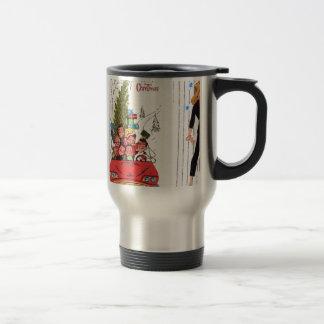 rockabilly vintage Christmas Travel Mug
