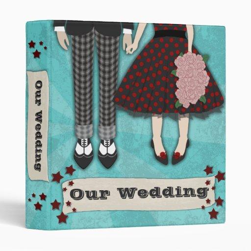 Rockabilly Wedding, 1 inch binder