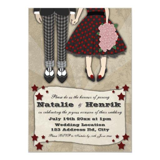 Rockabilly Wedding, 5x7 wedding 5x7 Paper Invitation Card