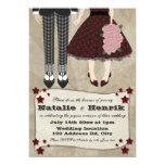 Rockabilly Wedding, 5x7 wedding * 5x7 Paper Invitation Card