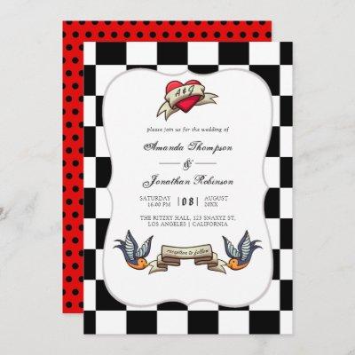 Rockabilly Wedding Invitation