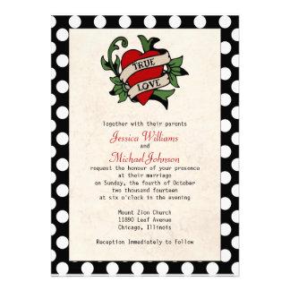Rockabilly Wedding Custom Announcements