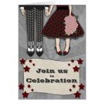 Rockabilly Wedding, invitation Greeting Card