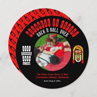 Rockabilly Wedding Invitation Vinyl LP Record