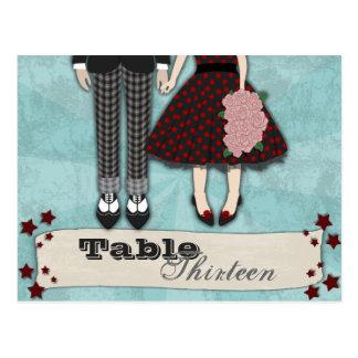 Rockabilly Wedding, table setting Post Cards