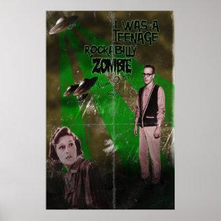 Rockabilly Zombie Posters