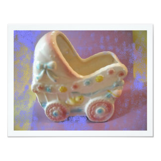 Rockabye Baby Buggy/shower gifts 4.25x5.5 Paper Invitation Card